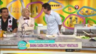 Bagna Cauda Con Polenta, Pollo Y Vegetales