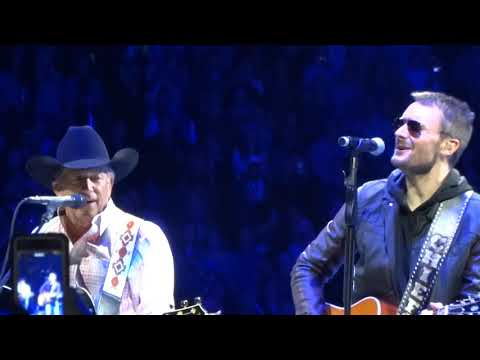 "George Strait and Eric Church ""Cowboys Like Us"" 1/18/14"