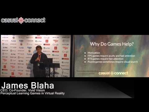 Perceptual Learning Games in Virtual Reality | James Blaha