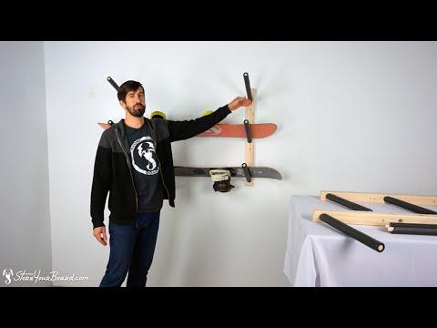 Snowboard Wall Rack | Triple Wood Snow Rack | StoreYourBoard