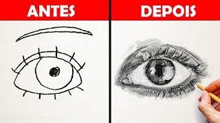 COMO DESENHAR COMO UM PROFISSIONAL || Dicas e Tutoriais Fáceis de Desenhos