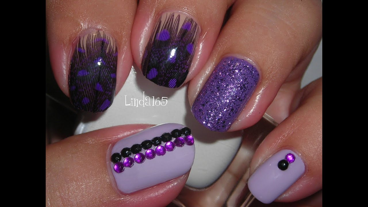 nail art feather nails decoracion de uas con plumas