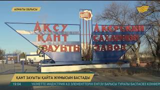 Алматы облысындағы Ақсу қант зауыты қайта іске қосылды