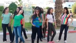 رقص بنات تونس في كلية بنات الطب  مجوز اردني ولا احلا