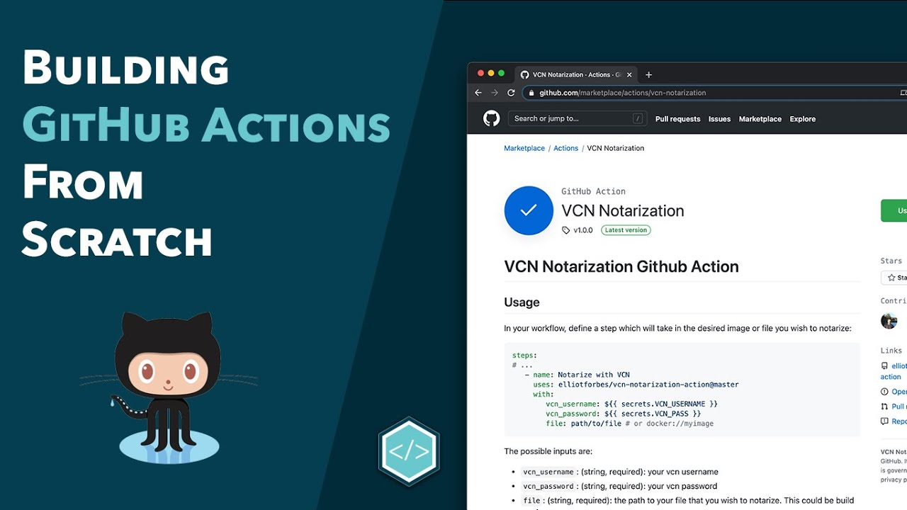 Building GitHub Actions from Scratch with Docker