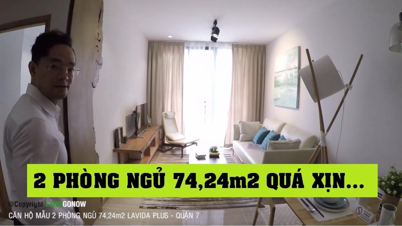 Căn hộ mẫu 2 phòng ngủ 74,24 m2 chung cư Lavida Plus, Nguyễn Văn Linh, Quận 7 – Land Go Now ✔