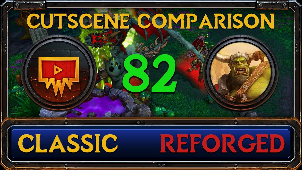 Warcraft 3: Reforged vs Classic Cutscene Comparison #82 - Interlude - The Blood of Mannoroth