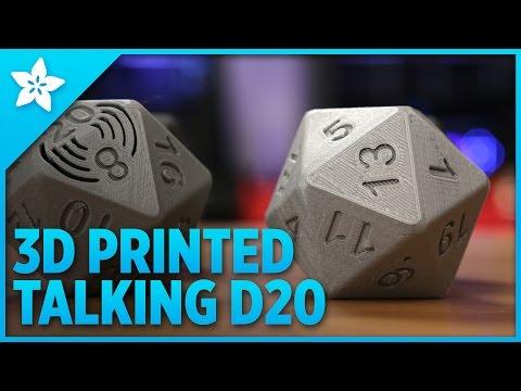 3D Printed Talking D20