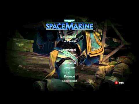 Warhammer 40.000: Space Marine. Credits.