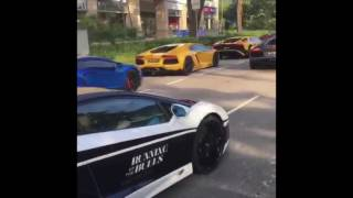 100 LAMBORGHINIS RACING TOP SPEEDS (luxury lifestyle in dubai)