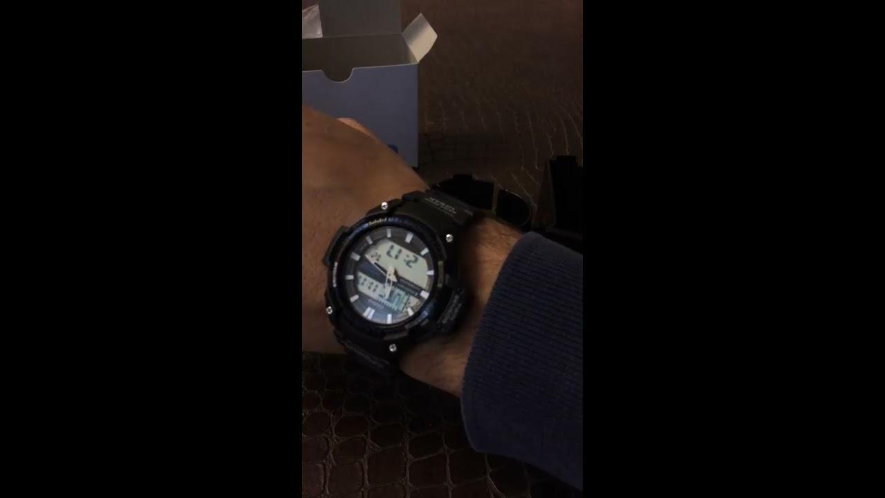 f54a0648498 Casio Men s SGW-450H-1ACF Twin Sensor Analog-Digital Display Quartz Black  Watch