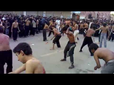Zanjeer zani  in Hyderabad Sindh Pakistan  at  Arbaen IMAM HUSSAIN (a.s)