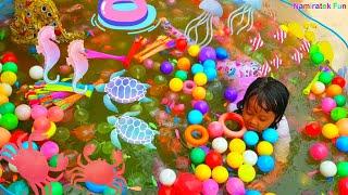 SERU! Permainan Anak Kolam Renang Bundar Mandi Bola Balls Pits in Water