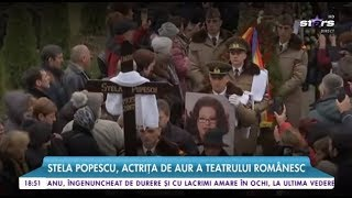 Durere, lacrimi și aplauze! Zeci de artiști au condus-o pe ultimul drum pe Stela Popescu