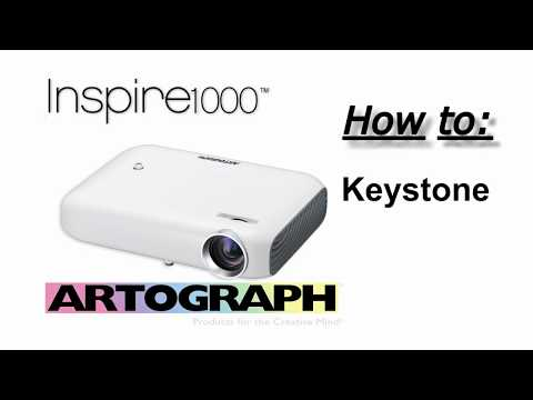 How to adjust KEYSTONE on the Flare150 and Inspire1000