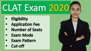 CLAT 2020 Exam detail   CLAT new pattern, Eligibility, application fee