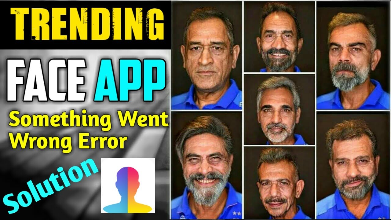 FaceApp Something Went Wrong Error Solution Fix | How to Use FaceApp in  Hindi | Old Face Maker App