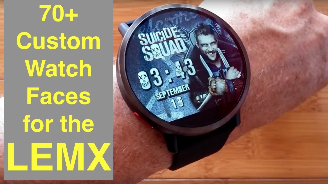 Over 70 FREE Custom Watch Faces for LEMFO LEMX Android Smartwatch