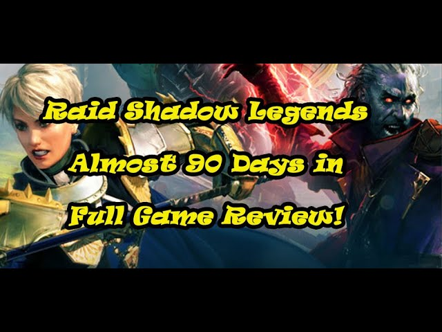 Raid Shadow Legends - Nearing 90 day account review.  Also, my referral code!