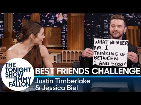 Best Friends Challenge with Justin Timberlake and Jessica Biel