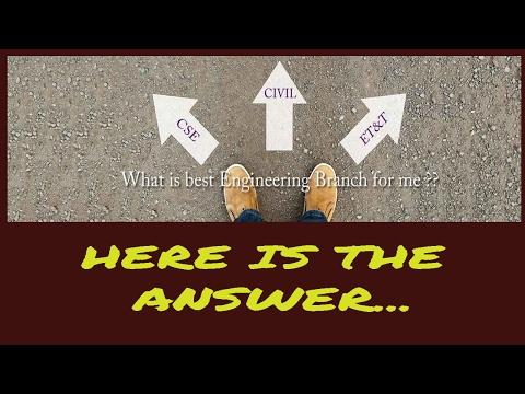 which branch to choose in engineering and why? इंजीनियरिंग में कौन ब्रांच  ले ?