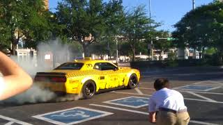 2018 Dodge Demon TAXI does an insane donut! - 2018 Gold Rush Rally-Dallas, TX
