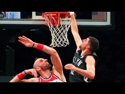Nets Defeat Wizards By 35! Joe Harris Dunks on Gortat! 2017-18 Season