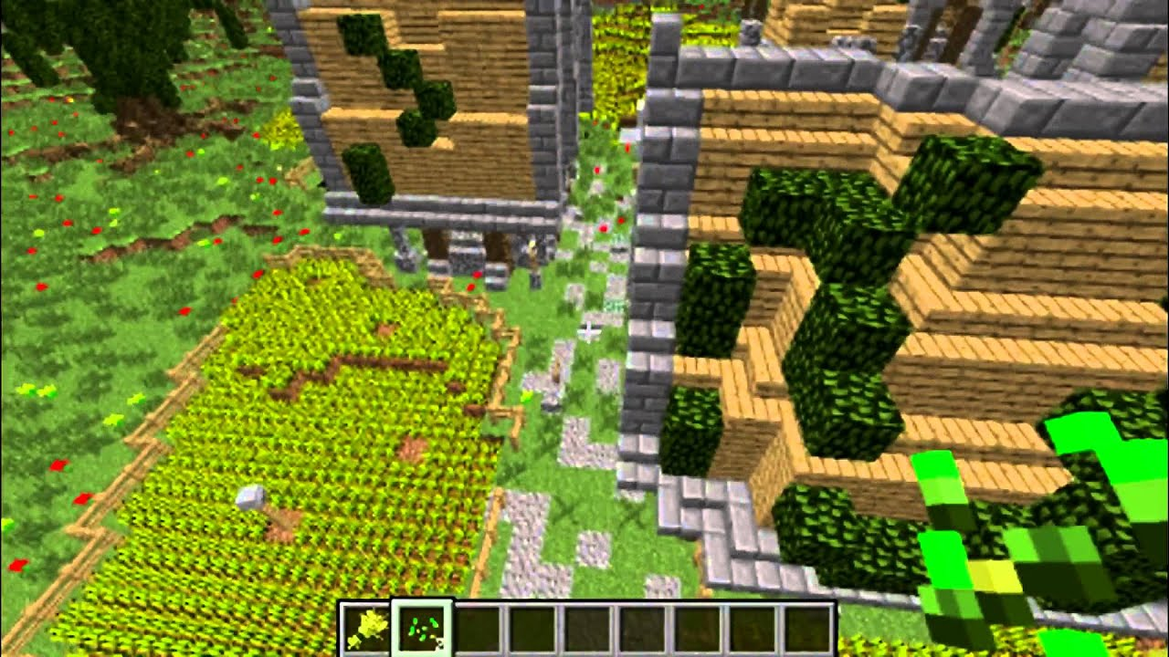 Карта с замком в старадавнем стили для minecraft 1.5.2