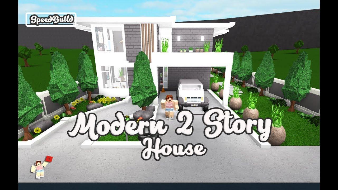 Roblox Bloxburg Speedbuild Modern 2 Story House Youtube