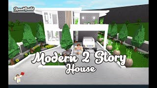 ROBLOX │Bloxburg - [SpeedBuild] Modern 2 Story House