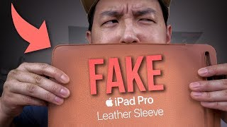 "FAKE Apple Leather Sleeve for 10.5"" iPad Pro - Review"