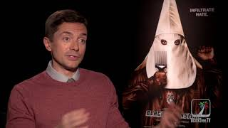 Topher Grace says finding the human side of David Duke was a challenge in BlacKkKlansman