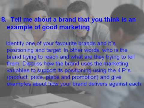 Top 20 marketing interview questions and answers - YouTube - marketing interview questions