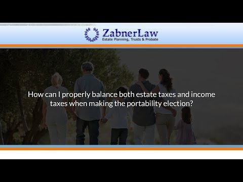 How can I properly balance both estate taxes and income taxes when making the portability election?