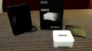 Sonos Bridge - Hands on Review. Part of multi-room home setup