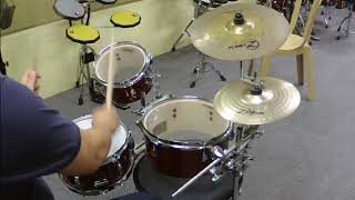 Tama Cocktail Jam- Mini and Zildjian Planet Z Cymbals