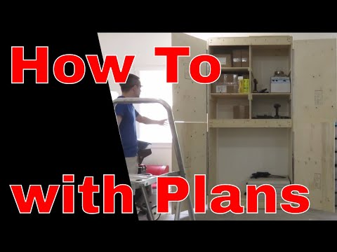How to Build a Storage Cabinet with Doors - Plans Included