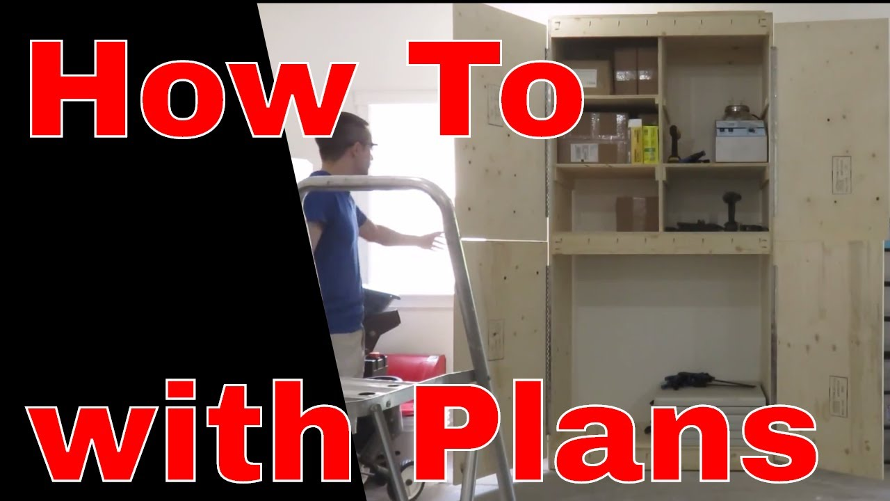 How To Build A Storage Cabinet With Doors Plans Included Youtube