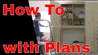 I show you how I built a large storage cabinet with doors for my garage. I needed to organize my garage so I build some large