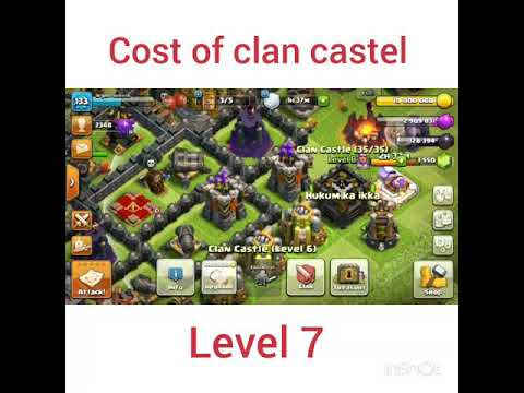 Cost of max clan castle😞