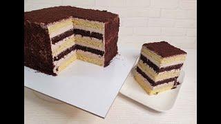 торт СМЕТАННИК выпекаем с ОДНОГО ЗАМЕСА и на ОДНОМ ПРОТИВНЕ ПРОСТО и БЫСТРО Сборка торта СМЕТАННИК