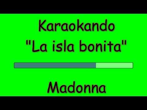 Karaoke Internazionale - La isla bonita - Madonna ( Lyrics )