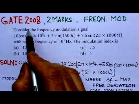 Video Solution to GATE ECE-2008 Problem-Frequency Modulation