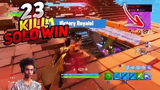 CRAZY 23 KILL SOLO WIN on FORTNITE BATTLE ROYALE! • Best Shotgun Aim on PS4?!