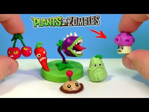 Лепим РАСТЕНИЯ из игры Растения против Зомби Часть 1   Plants vs Zombies