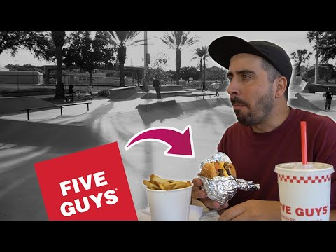 MAIOR PISTA DE SKATE DA FLÓRIDA! Comi no Five Guys! #SkateVacation