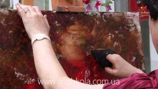 Мастер класс живописи Елены Ильичевой - Ягодный чай часть 1