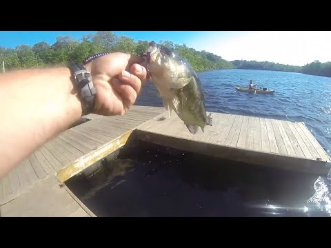 Fishing Round Lake In Monroe New York From The Dock