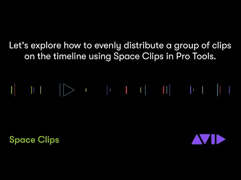 New in Pro Tools 2020 — Space Clips