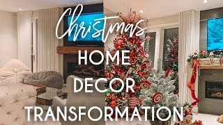 Christmas Home Decor Transformation | Time Lapse Tutorial